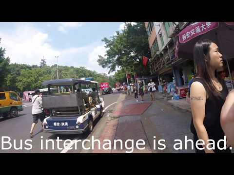 Baiyun Mountain Guangzhou China Bus Station back to Yue Xiu Park #24