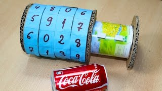How to Make Combination Vault Using Cardboard and Trash - DIY Combination Lock