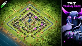 NEW TH12 Trophy Base| Farming Base| June Update 2018 - Clash Of Clans
