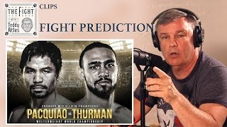 Pacquiao Thurman Fight PREVIEW, PREDICTION from Teddy Atlas   CLIP