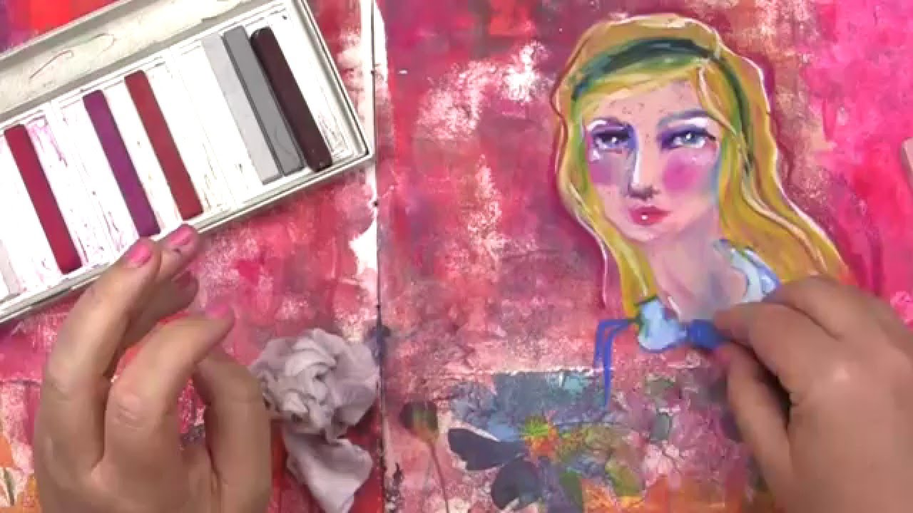 Add An Instant Wow Factor With Oil Pastels Cloth Paper
