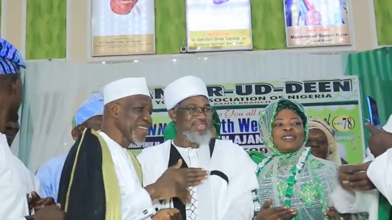 SHEIK MUYIDEEN AJANI BELLO CELEBRATED HIS 78YEARD BIRTHDAY ND 50YEARS ON STAGE IN KANO STATE AND GIV