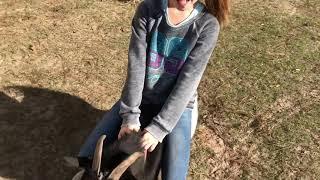 Adriana Milsap rides billy goat