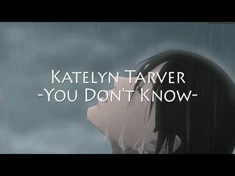 Katelyn Tarver - You Don't Know (Lirik Lagu Dan Terjemahannya)