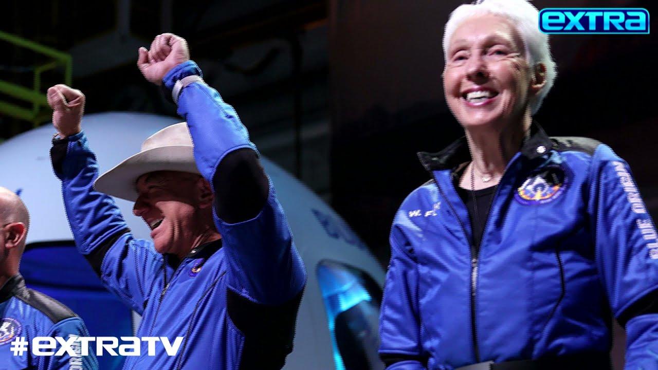 Jeff Bezos Makes Historic Space Trip, Celebrates with GF Lauren Sanchez