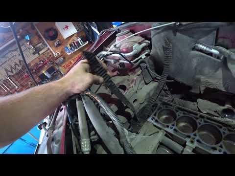 Ремонт двигателя Renault K4M Logan. Обрыв ремня ГРМ.