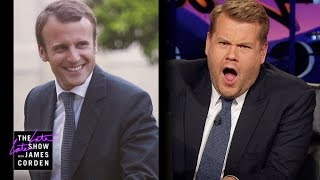 James Corden Has Eyes for France's Emmanuel Macron
