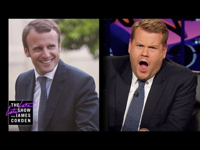 James Corden Has Eyes for Frances Emmanuel Macron