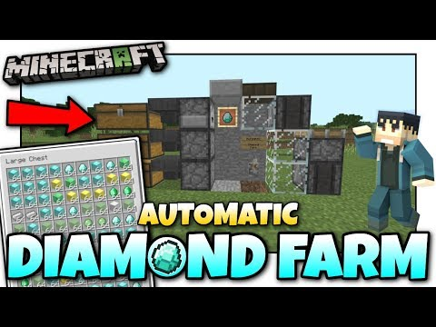 Minecraft - AUTOMATIC DIAMOND FARM???? Tutorial ⛏️ Bedrock / PS4 / MCPE / Xbox / Windows U0026 Switch