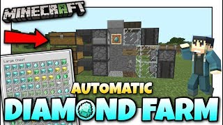 Minecraft - AUTOMATIC DIAMOND FARM [ AFK ][ Tutorial ] MCPE / Xbox / Bedrock