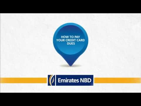 How to pay your Emirates NBD Credit Card dues طريقة سداد مستحقات بطاقة الائتمان من Emirates NBD