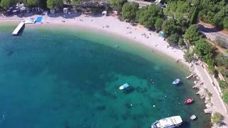 Medveja, Opatija riviera, beautiful pebble beach, and crystal clear sea, Travel to Croatia