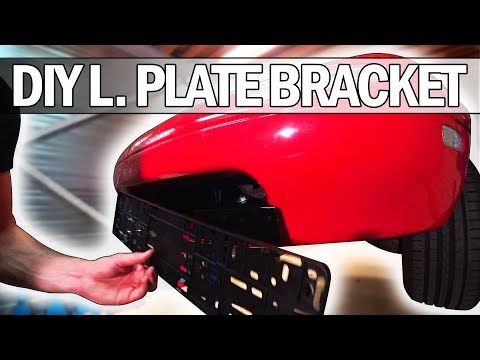 MX5 Miata - How to build your own license plate bracket (and fix your bumper)