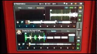 Traktor Dj iPad Skrillex vs Kill the noise (bootleg by supru)