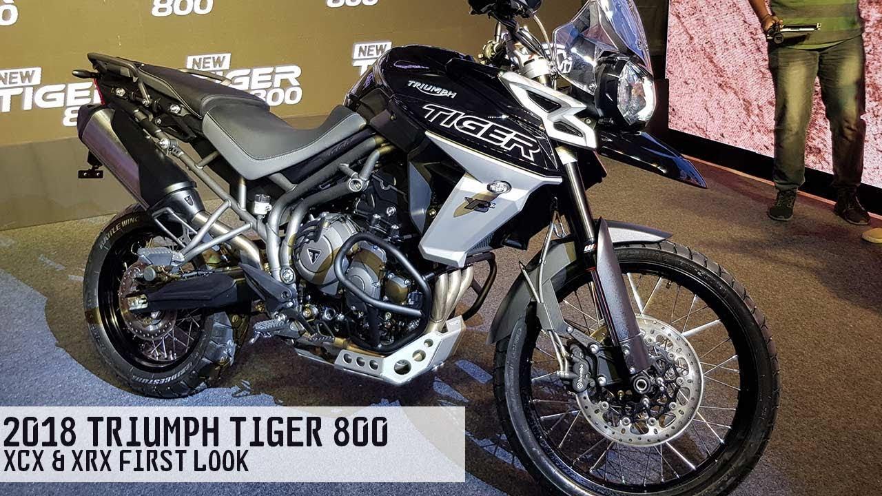 New 2018 Triumph Tiger 800 Xrx Xcx First Look Autobics Youtube