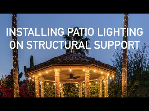 Installing Patio Lighting Along Structural Support Youtube