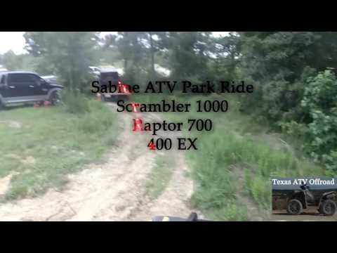 ATV Riding Scrambler 1000 at Sabine ATV Park, Texas. Group Ride.