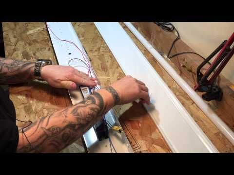 install lithonia fluorescent lights in garage or shop ceiling & review -  youtube
