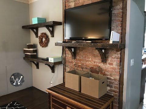 HOW TO BUILD AN ARTISTIC ENTERTAINMENT CENTER CHEAP