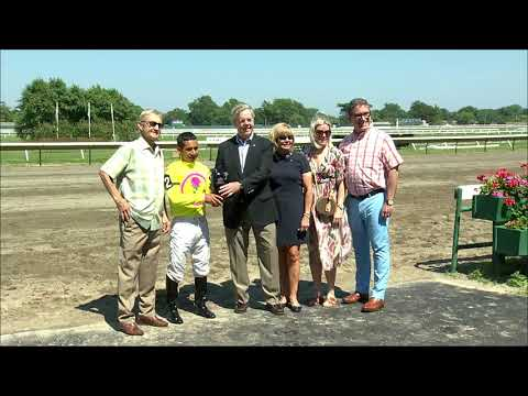 video thumbnail for MONMOUTH PARK 7-4-19 RACE 5 – THE RUMSON STAKES