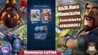 mini opening chests | chest of choice | Latin dementia | Clash Royale | Ub3R