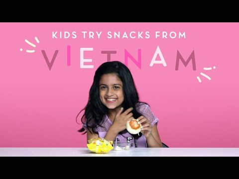 Kids Try Snacks from Vietnam | Kids Try | HiHo Kids