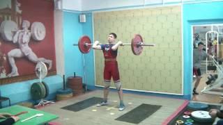 Мезенцев Алексей, 13 лет, вк 69 Толчок 75 кг