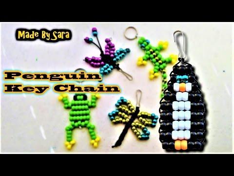 Beads Penguin Key Chain