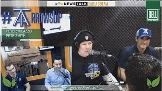 """RAW MIKE RICHARDS  """"Arrows Up!"""" segment with the beauties Pete & Pete from the Toronto Arrows!"""