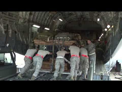 C-17 Globemaster Heavy Cargo Pallet Night Drop