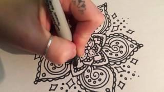 Free Hand Mandala Doodle - Real Time Zentangle - Nicky Kumar Art