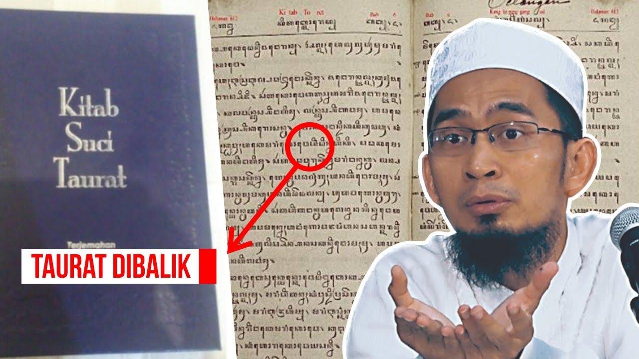 Dibalik Kitab Taurat Bani Israel Ustadz Adi Hidayat Lc Ma Youtube