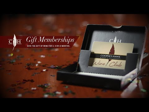 Cooper's Hawk Wine Club Gift Memberships
