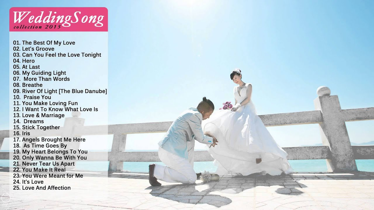 Top 50 Wedding Songs 2015