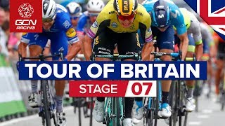 Tour Of Britain Stage 7 2019 Highlights - Warwick - Burton Dassett Country Park | GCN Racing