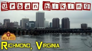 Urban Hiking Belle Isle in Downtown Richmond, Virginia
