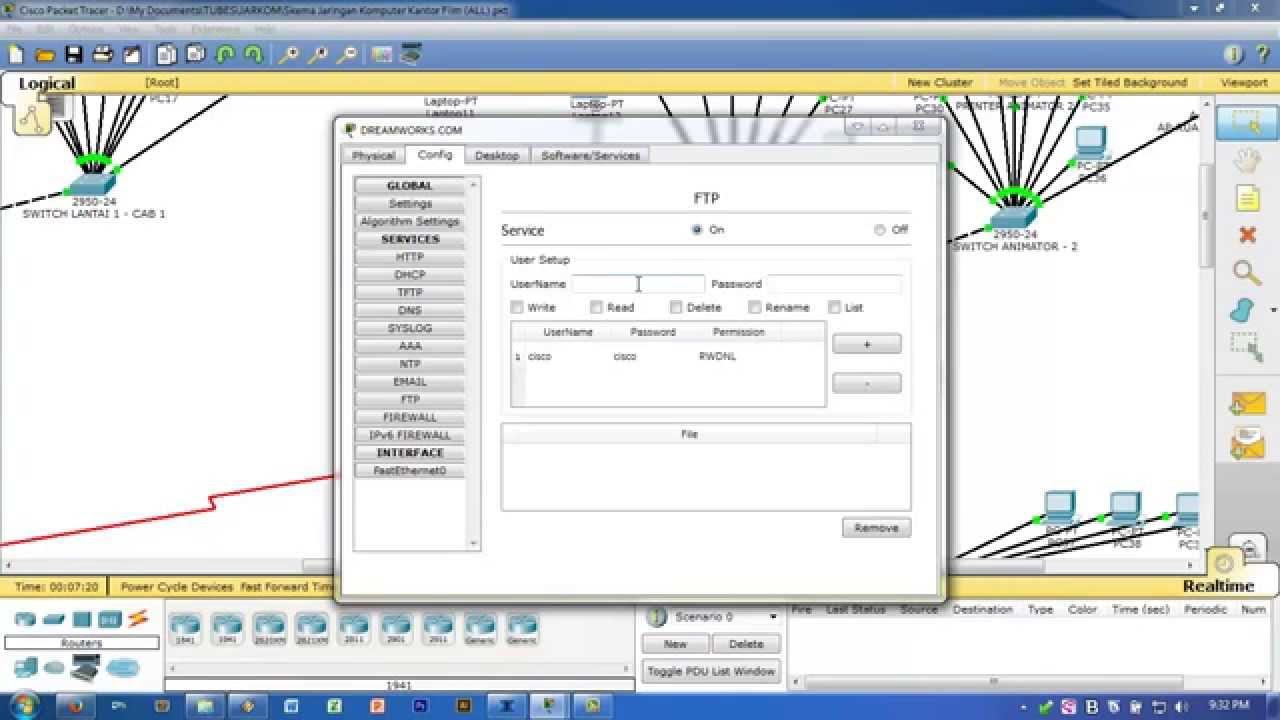 CISCO Packet Tracer - Konfigurasi Web, DNS, NTP, FTP, TFTP, dan E-Mail  Server