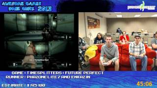 Timesplitters: Future Perfect - Speed Run in 1:19:46 (Hard Mode) *Live for AGDQ 2013 [GCN]