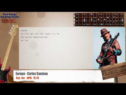 Europa - Carlos Santana Bass Backing Track with chords