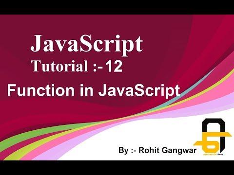 javascript-tutorial-:--12-|-function-in-javascript