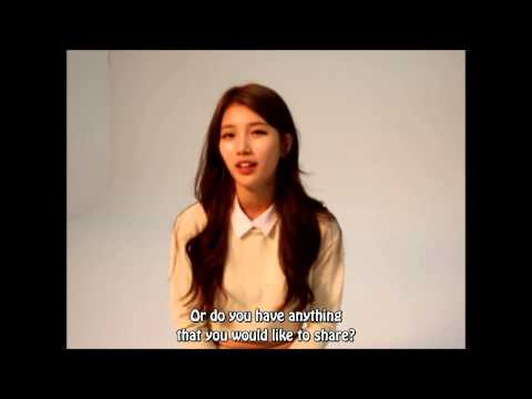 [Eng Sub] 130703 Miss A Suzy's Interview (for Dominos Pizza)