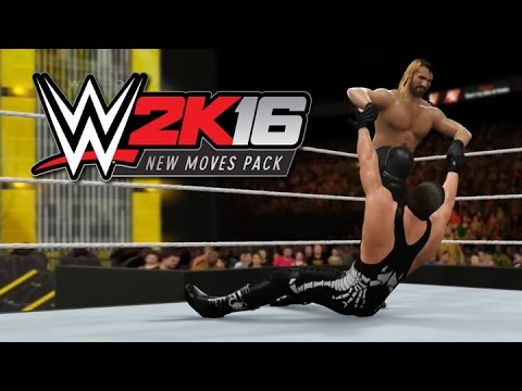 WWE 2K16: New Moves DLC Pack Gameplay! (All Moves Match Footage!)