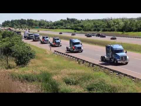 Don Anderson Truck Procession - Highway 404