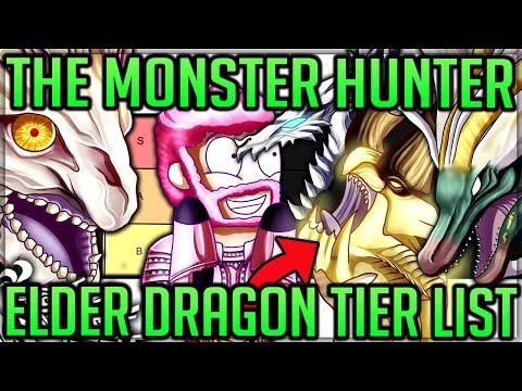 The Monster Hunter Elder Dragon Tier List - 'Official' Ranking - Monster Hunter World Iceborne! #mhw