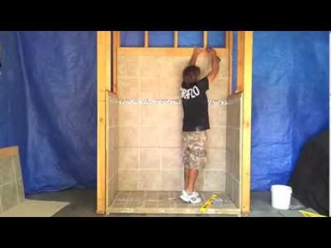 How to Install Pre-Tiled Shower and Bath Surround Walls ...