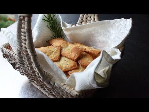 Fancy Crackers - How to Make Flatbread-Style Crackers - Rosemary Sea Salt Cracker Recipe