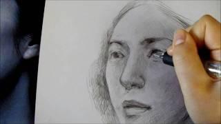 顔を描く練習