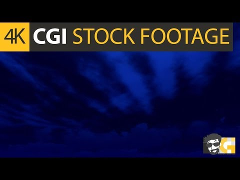 ( CGI 4k Stock Footage ) Dark clear monsoon night sky
