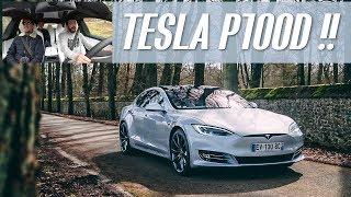 ESSAI | Une TESLA Model S P100D et 3 intellectuels !! [+ un 🎁 à la fin]