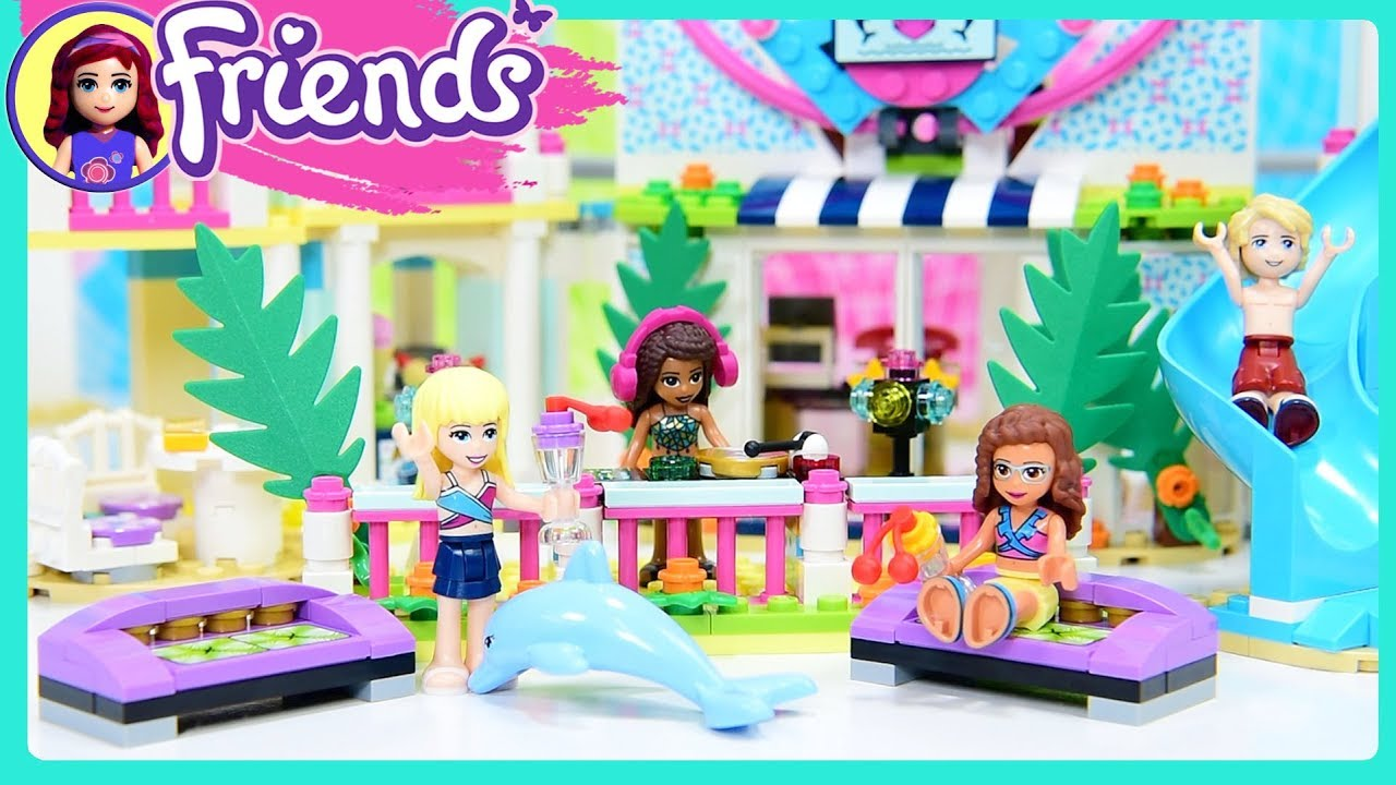 Lego Friends Heartlake City Resort Part 2 Build Beach Hotel Kids
